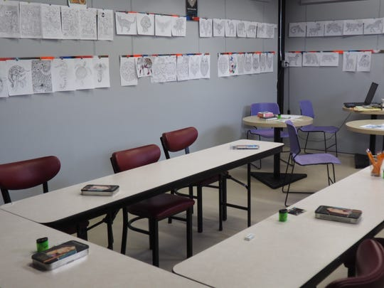 The new Adult Coloring Lounge at Share Fine Art Galleries, 228 S. Military Road, will offer pay-per-page coloring with supplies provided.