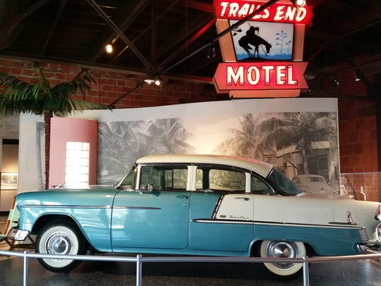 In this 2016 photo, a 1955 Chevrolet Bel Air is on display at the Naples Depot Museum.