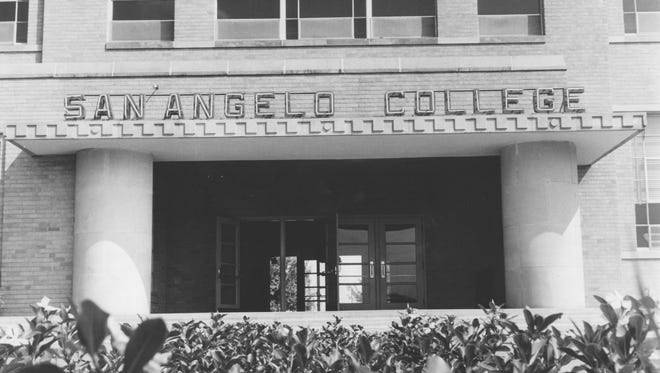 San Angelo College, shown in 1965, was about to pick up steam after President R.M. Cavness came aboard in 1954 and worked to turn the two-year college into a four-year institution.