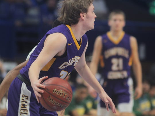 Campbell County senior Joel Day looks for an opening