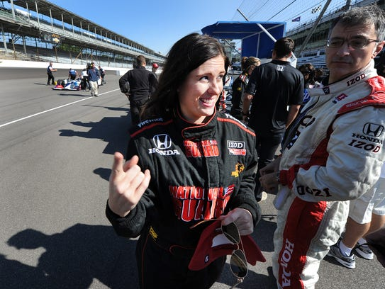Leslie Bailey talks about her ride with IndyCar legend