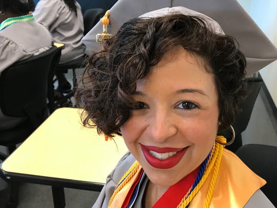 Doris Pagan was keynote speaker for the 45th graduation ceremonies at Passaic County Community College on Thursday evening.