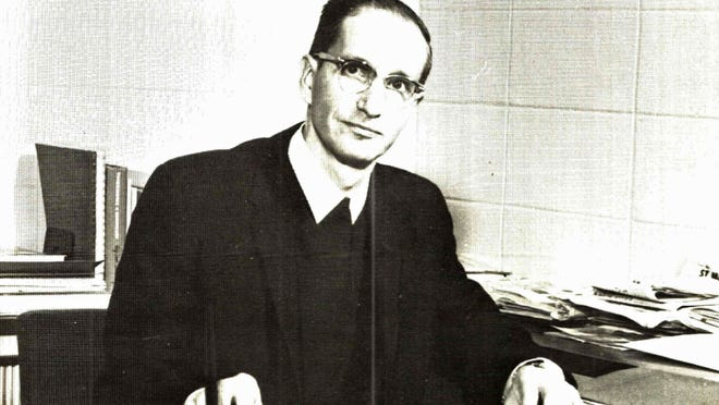 Brother Cyril Litecky from the first Roncalli yearbook in 1966.