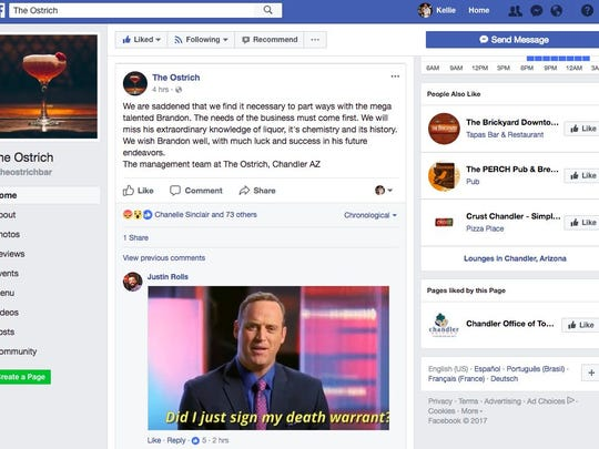 The now-deleted Facebook post that made Brandon Casey's