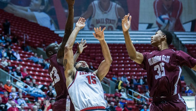 Ball State defeated Alabama A&M at Worthen Arena Tuesday, Dec. 29, 2015.
