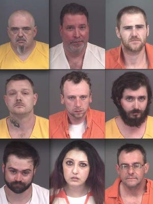 Top row, from left: John Crosley, Jeffrey Lefebvre and Claude Grindstaff. Middle: Russell Traud, Brian Church and Kevin Chester. Bottom: Kyle Yanke, Nicole Garcia and Gregory Bogdanski.