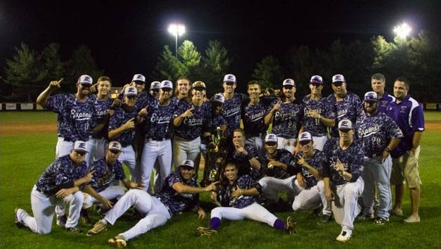 Former Murphy standout Michael Curry and the Strasburg (Va.) Express repeated as champions of the Valley Baseball League on Friday night.