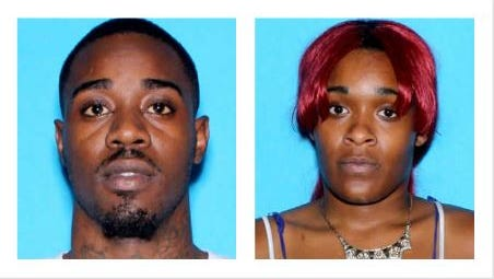 Kierro Nelson (left) and Cymone Thompson (right) are wanted for capital murder of 24-year-old Jordan Wilson.