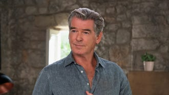 "Pierce Brosnan sings again as Sam in ""Mamma Mia! Here We Go Again."""