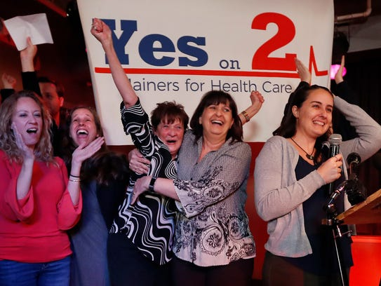 Medicaid expansion supporters celebrate victory, Portland,