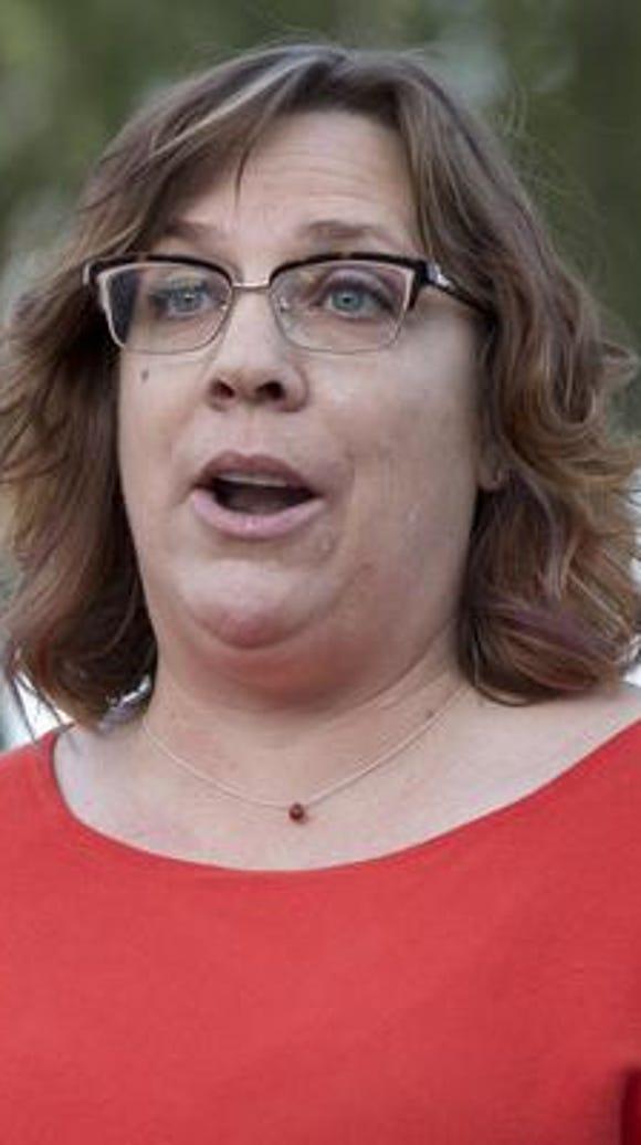 Kat Sabine of NARAL Pro-choice Arizona speaking at