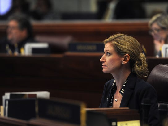 Assemblywoman Jill Tolles is seen in session at the