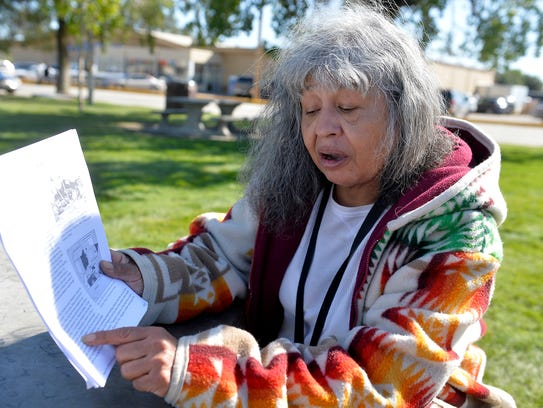 Mary Cleland, a social advocate on the Fort Peck Indian