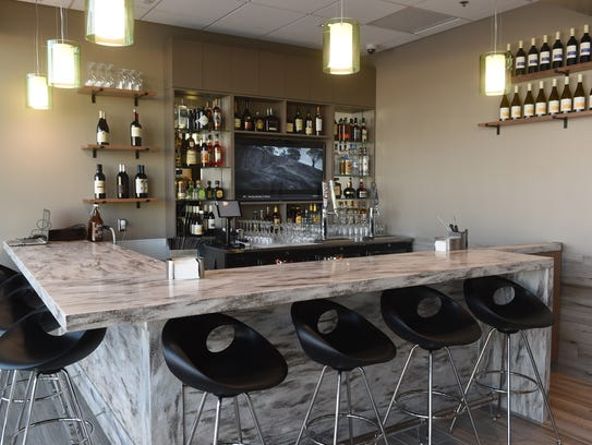The bar at the new Escape Lounge at Reno-Tahoe International