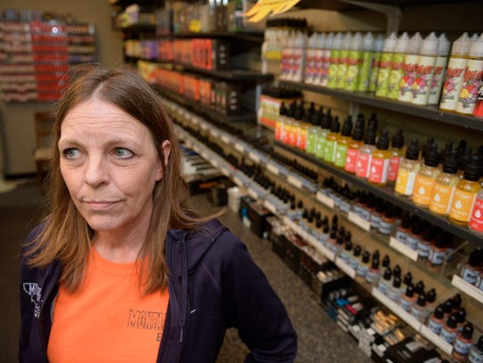 Vicki Johnson of Montanajo E-Cig store is worried about
