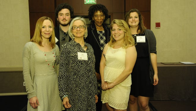 The Daily Times performed strongly at the Maryland-Delaware-District of Columbia Press Association 2014 Editorial Contest held Friday at the BWI Westin in Linthicum, Maryland.  Daily Times MDDC winners: Front row from left: former staff photographer Laura Emmons, Susan Parker and Vanessa Junkin. Back row from left: Joe Lamberti, Deborah Gates and Rachael Pacella.