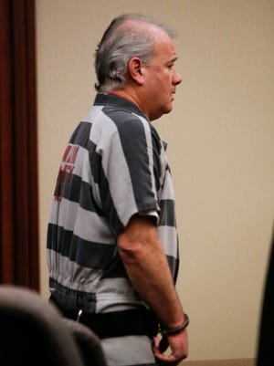 Eric Byrnes appears in Circuit Judge James Jamo's courtroom for a hearing on Thursday, July 13, 2017.  Byrnes pleaded guilty Thursday, Aug. 9, 2017 to three counts of false pretences $50,000 to $100,000. [MATTHEW DAE SMITH/Lansing State Journal]