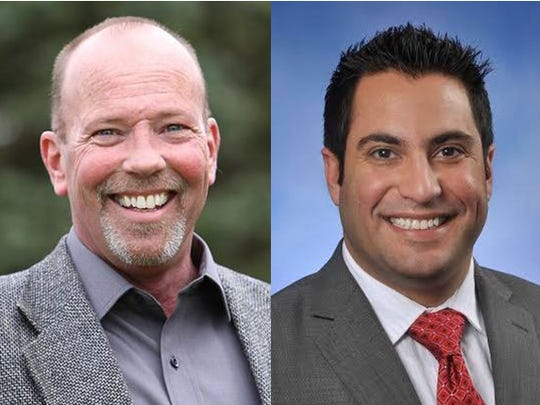 From left, Michael Stack, D-Wolverine Lake and Klint Kesto, R-Commerce Township are running for the 39th Michigan House district in the 2016 elections.