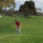 Brentt Salas chips to the green in the IMG Academy Junior World Championships July 12-15 at Torrey Pines Golf Course in San Diego, California.