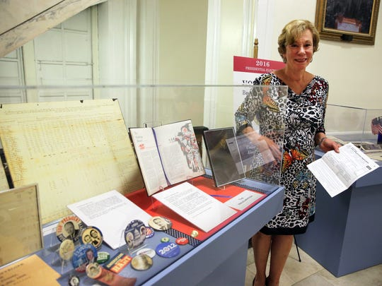Election memorabilia on display at the Union County Courthouse in Elizabeth on Thursday July 7, 2016.