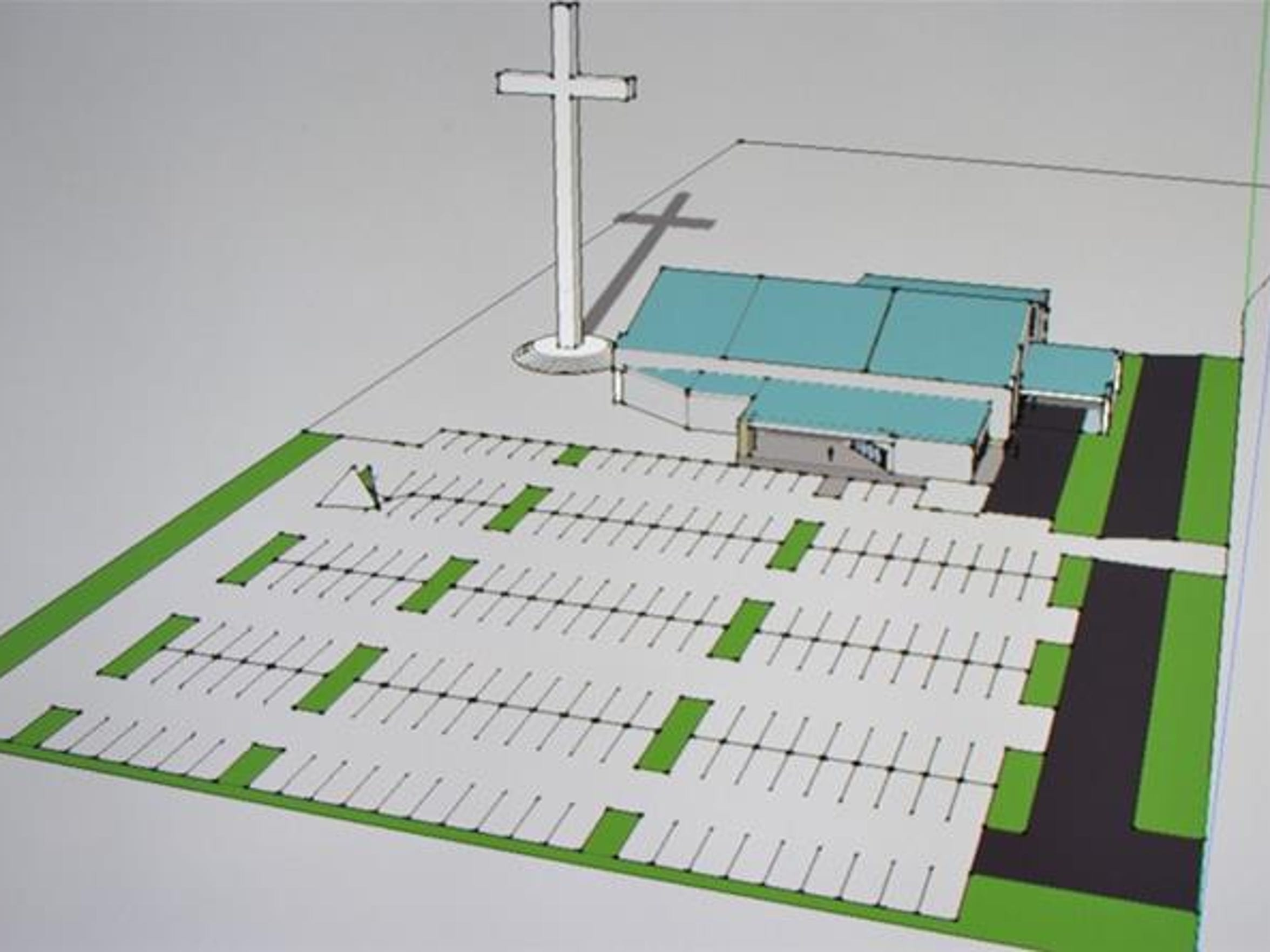 The proposed Corpus Christi Cross will stand over 200 feet tall once it is constructed along Interstate Highway 37, near Carbon Plant Road.