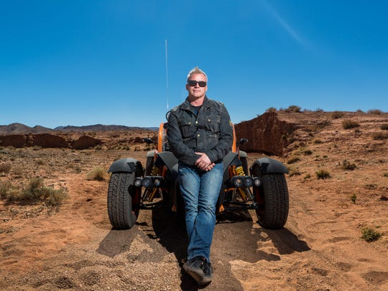 Matt LeBlanc with the Ariel Nomad in Morocco on BBC's