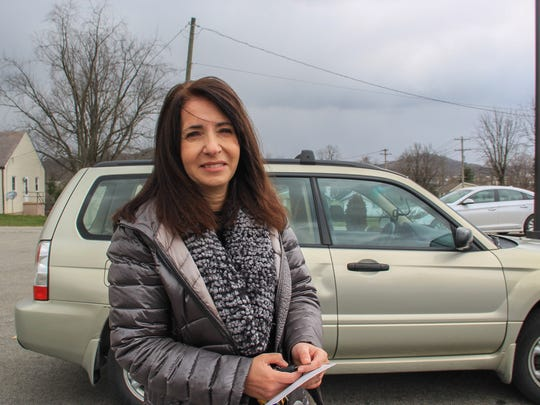 Voter Despina Naylor is pictured March 13, 2018. Naylor