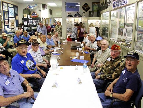 Twenty World War II veterans from southern New Jersey