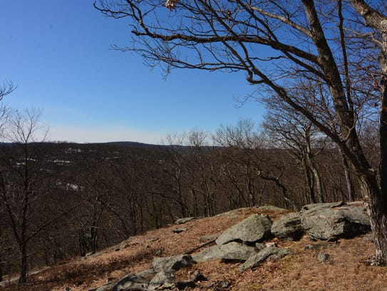 The best views from the top of Carr Pond Mountain just