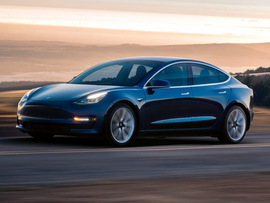 This photo provided by Tesla shows a 2017 Tesla Model