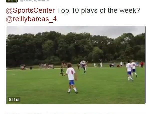 Wall's Riley Barcas scored against RBC