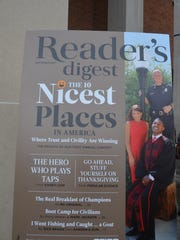 "Gallatin is on the cover of the November ""Reader's Digest"" as the Nicest Place in America."