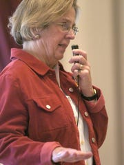 A 2005 photo shows Rep. Anne Seibert, D-Norwich, speaking