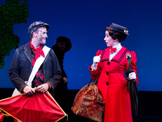 Bret Shuford as Bert and Alice Sherman as Mary Poppins