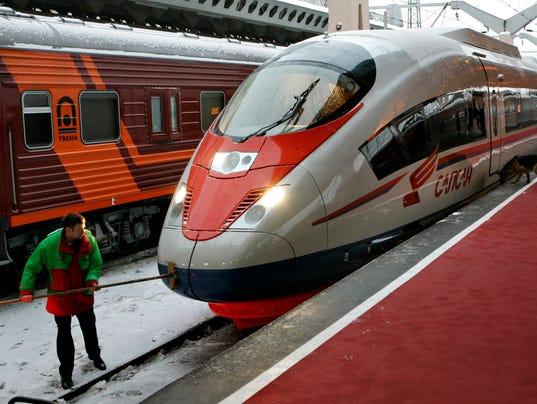 AP RUSSIA HIGH SPEED TRAIN I RUS