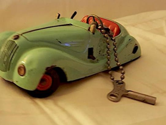 This Schuco wind-up car remains a favorite of Albert