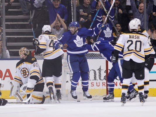 USP NHL: BOSTON BRUINS AT TORONTO MAPLE LEAFS S HKN TOR BOS CAN ON