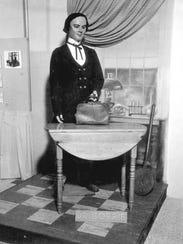 A wax statue of Apalachicola's brilliant Dr. John Gorrie