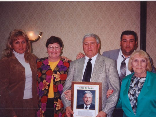 The Sirianni family after Sam was inducted into the
