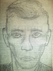 Suspect sketch for the Nov. 17, 1971, slaying of Leonard Monette.