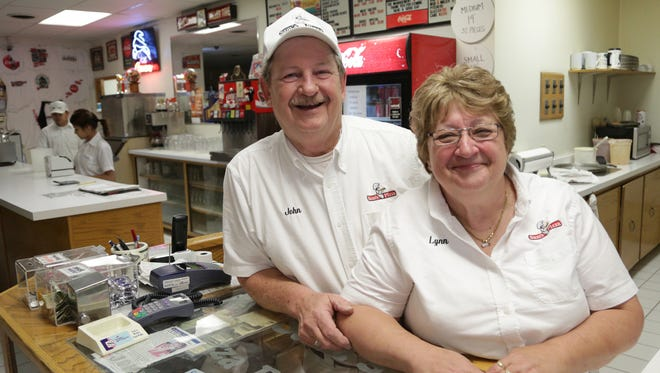 John and Lynn Huber are the owners of Sam's Pizza in Schofield.
