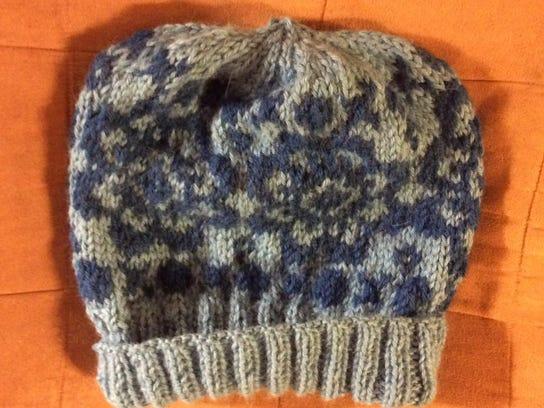 I finished the alpaca Fair Isle hat using Mucklestone's