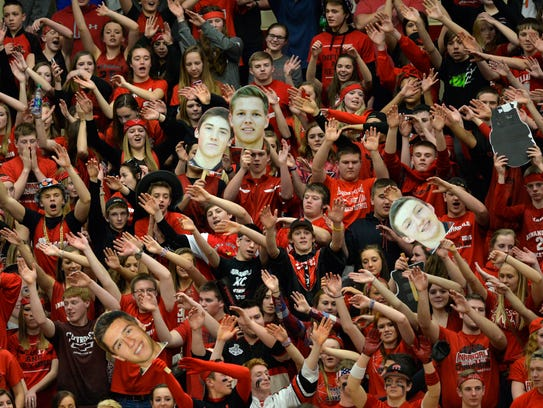 Annandale's fans try to distract the Breck players