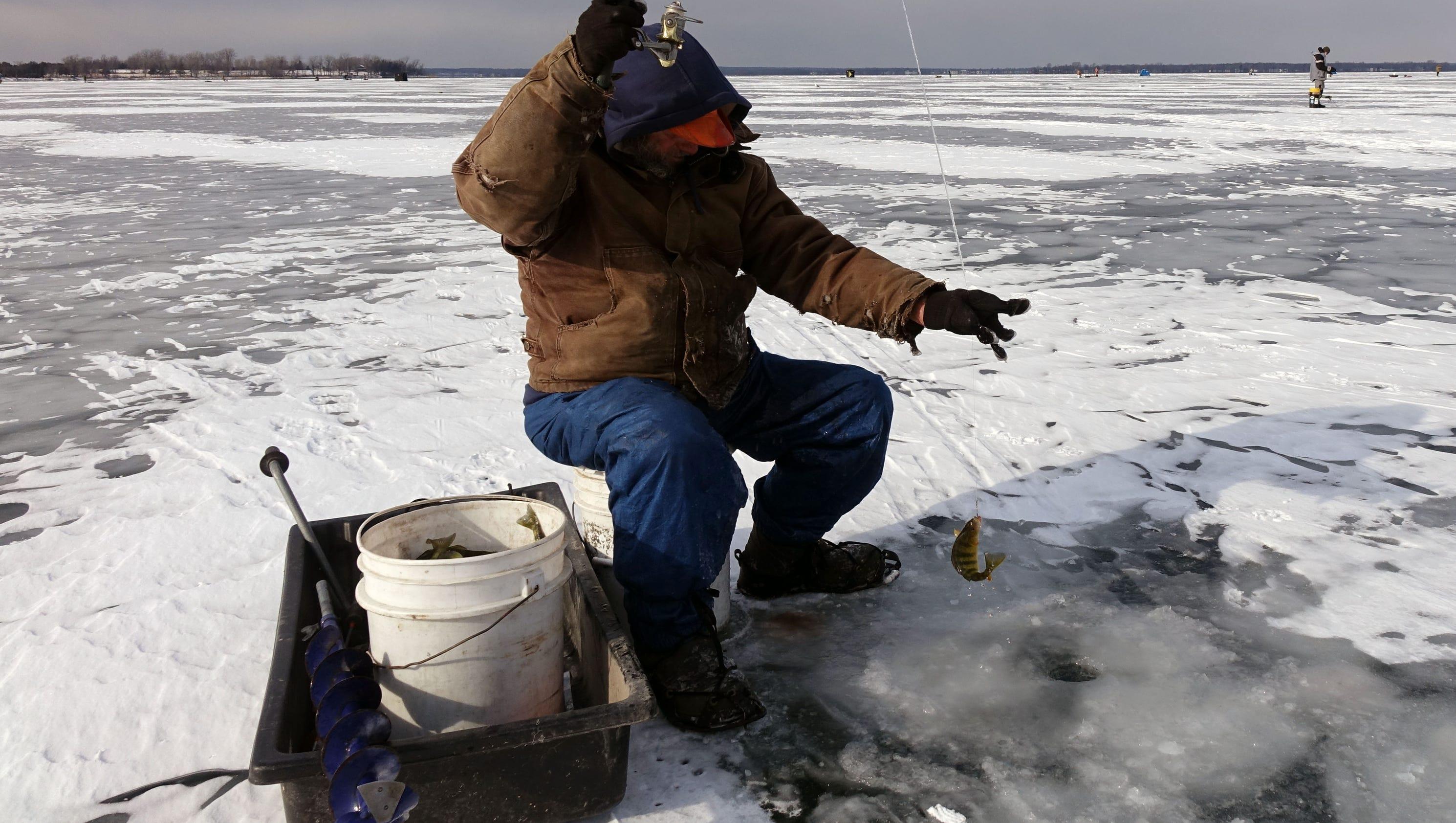 Warm Winter Limiting Ice Fishing On Lake Champlain