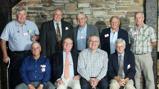Pictured are William Miller, front row from left, Michael Tuszka, Ron Okray, Hank Grinvalsky; Bill Soik, back row from left, Greg Wysocki, Fred Kalkofen, Tony Breitenstein and James Whittaker.