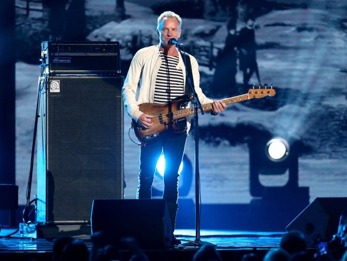 """Sting performs """"Englishman In New York"""" at the 60th"""