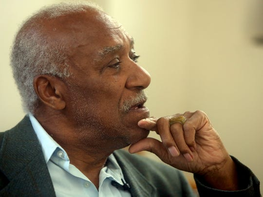 Former Mount Vernon Mayor Ernie Davis talks about his role in the effort to repair and renovate Memorial Field Davis spoke in his Mount Vernon office Oct. 2, 2017.