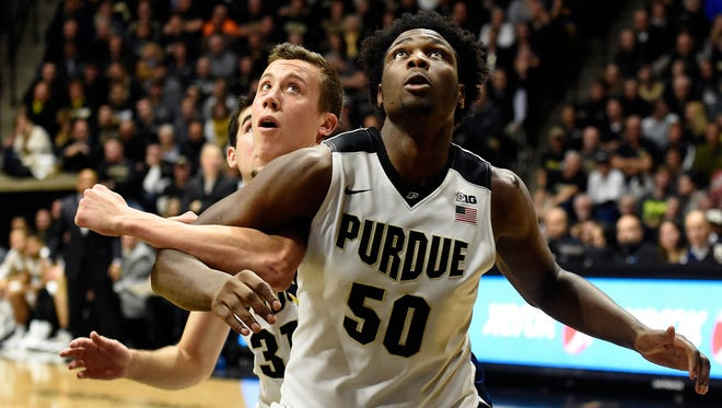 Boilermakers forward Caleb Swanigan (50) is among the conference's top freshman.