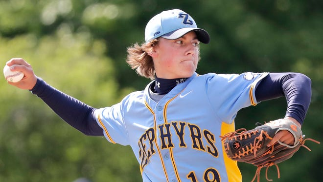 TJ Skrzypczak has been one of the top pitchers for the St. Mary Catholic baseball team this season.
