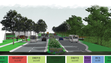 This rendering shows what a 56-foot-wide Wilson Drive